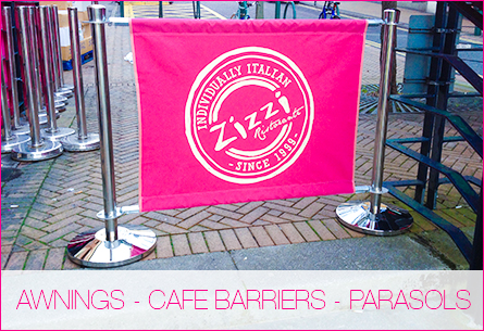 Awnings – Cafe Barriers – Parasols